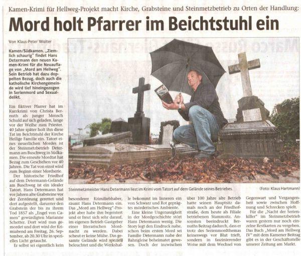 Westfälische Rundschau 25. September 2008
