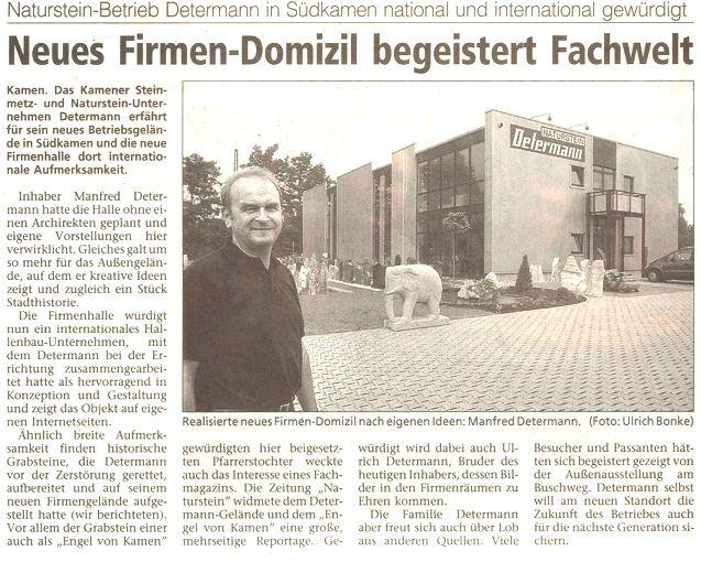 Westfälische Rundschau 8. Oktober 2003