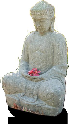 Gartenskulptur Buddha
