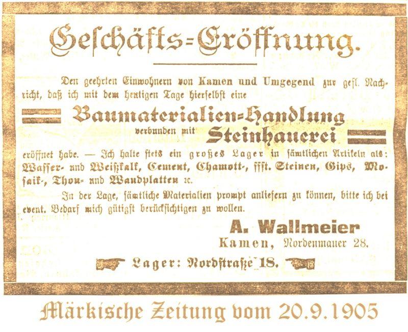 Märkische Zeitung 20. September 1905